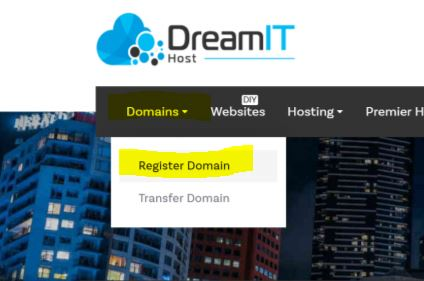 Dream IT how to register a domain name