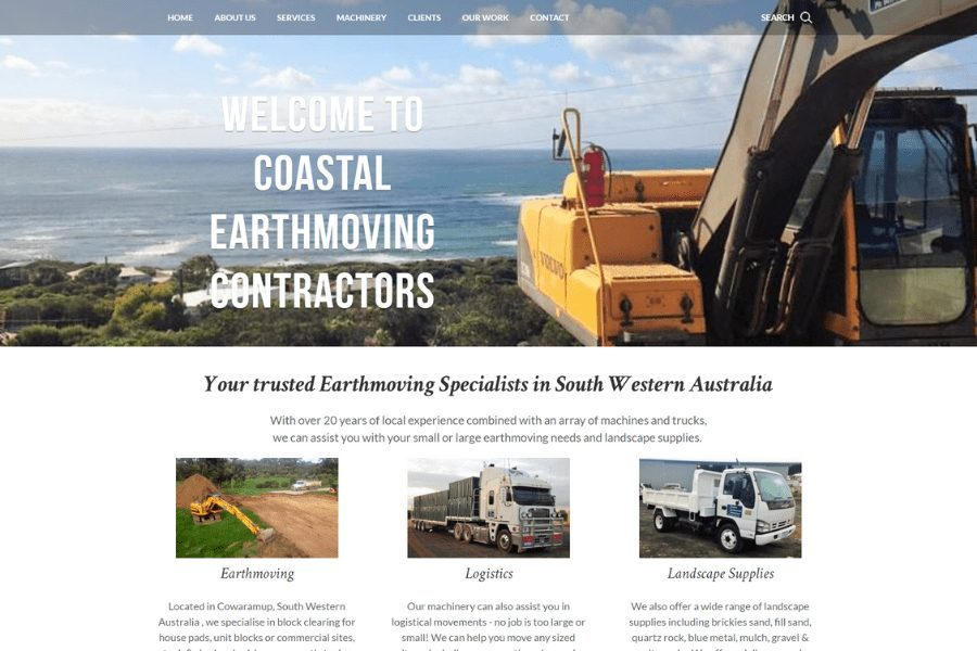 Coastal Earth Moving Contractors Website-min