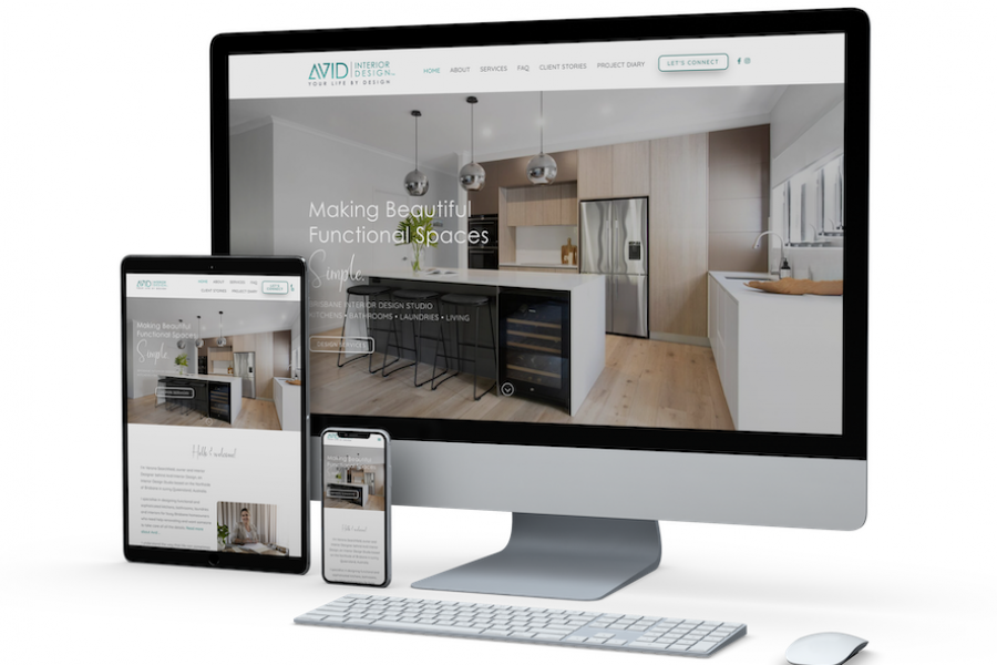Avid Interior Design website by Kee Websites