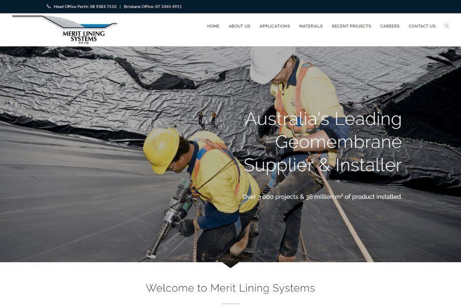 Merit Linings Website by Kee Websites