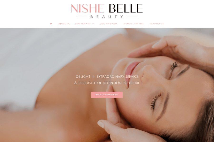 Nishe Belle Beauty Website by Kee Websites