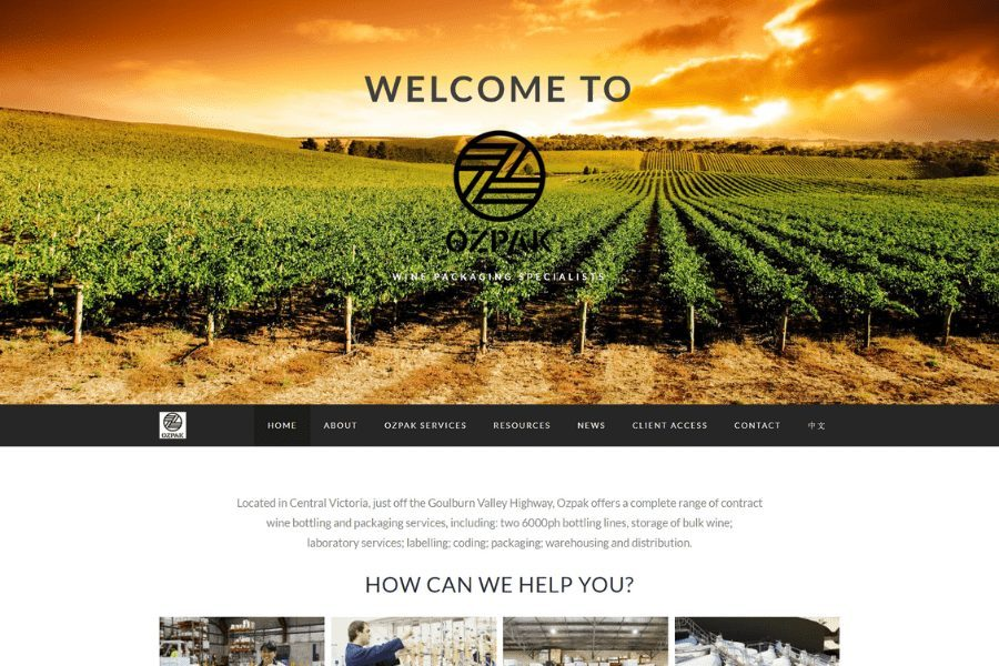 OzPak Website by Kee Websites