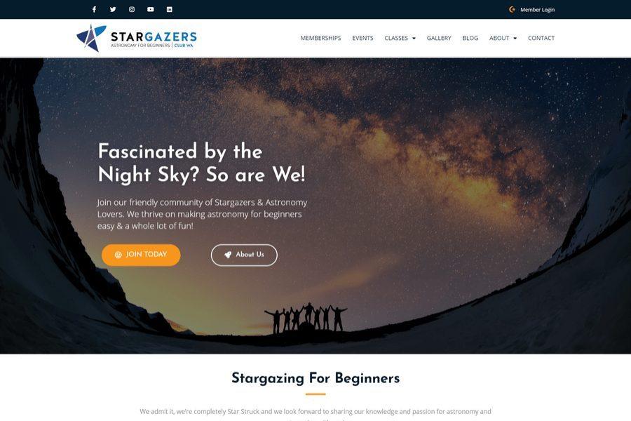 Stargazers Club WA Website